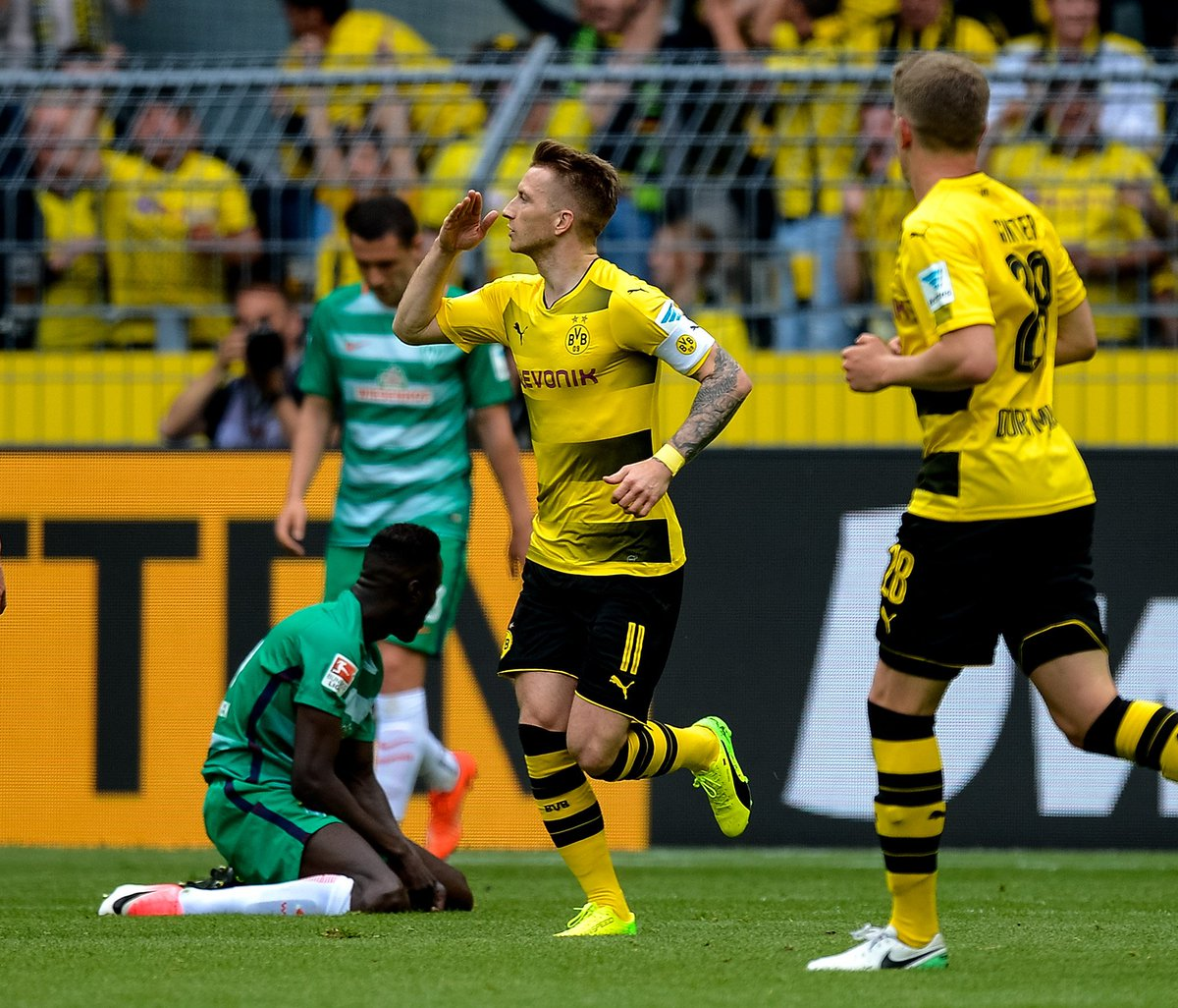Marco Reus has now been directly involved in 90 goals in 125 #Bundesliga games for Dortmund.  56 goals  34 assists   To the rescue. <br>http://pic.twitter.com/BHrV8M5e4U