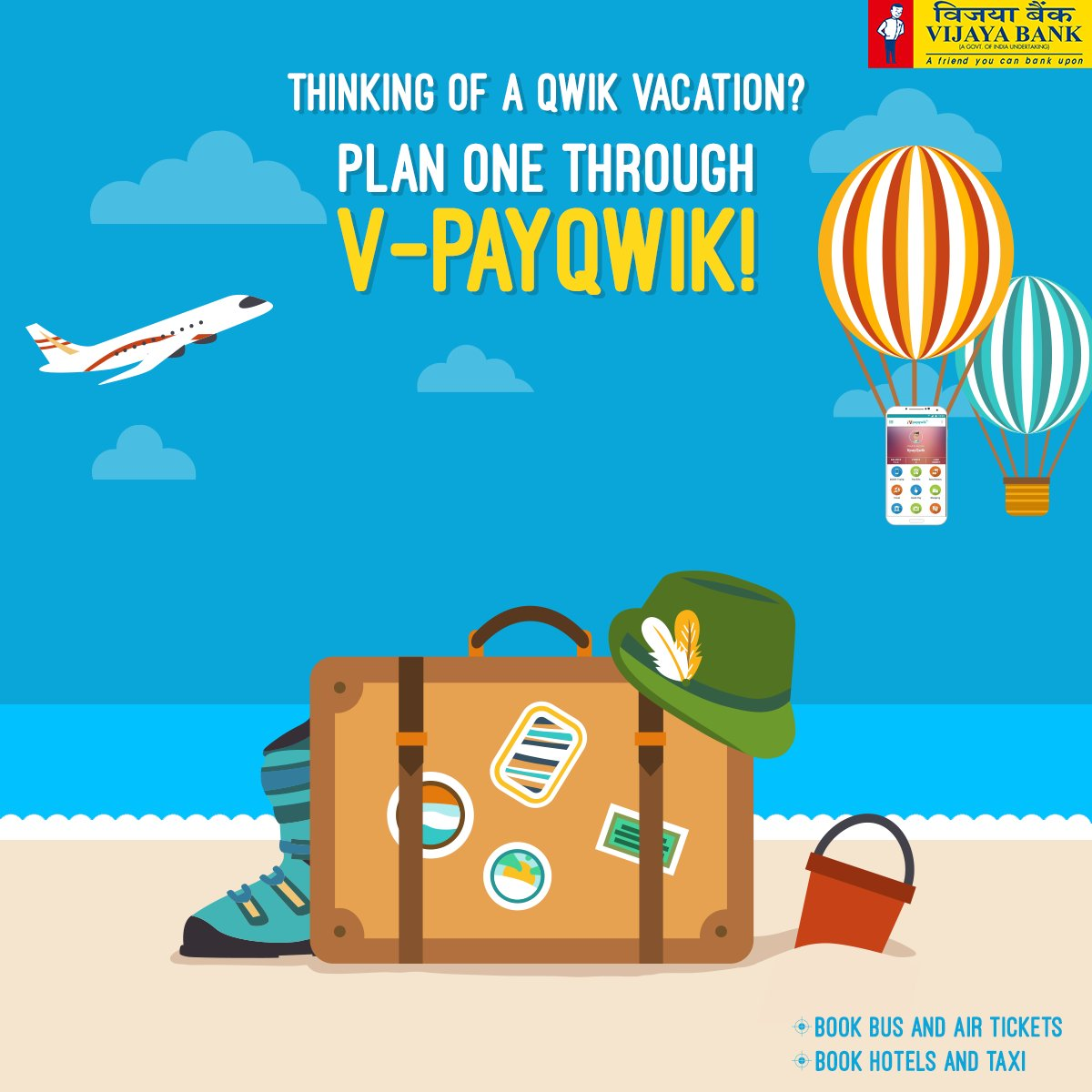 Plan your entire vacation through V-Payqwik! Get the app now: iOS  http:// bit.ly/VPayQwik  &nbsp;   Android  http:// bit.ly/VPAYQWIK  &nbsp;   #digitalwallet <br>http://pic.twitter.com/ImjUGyccOf