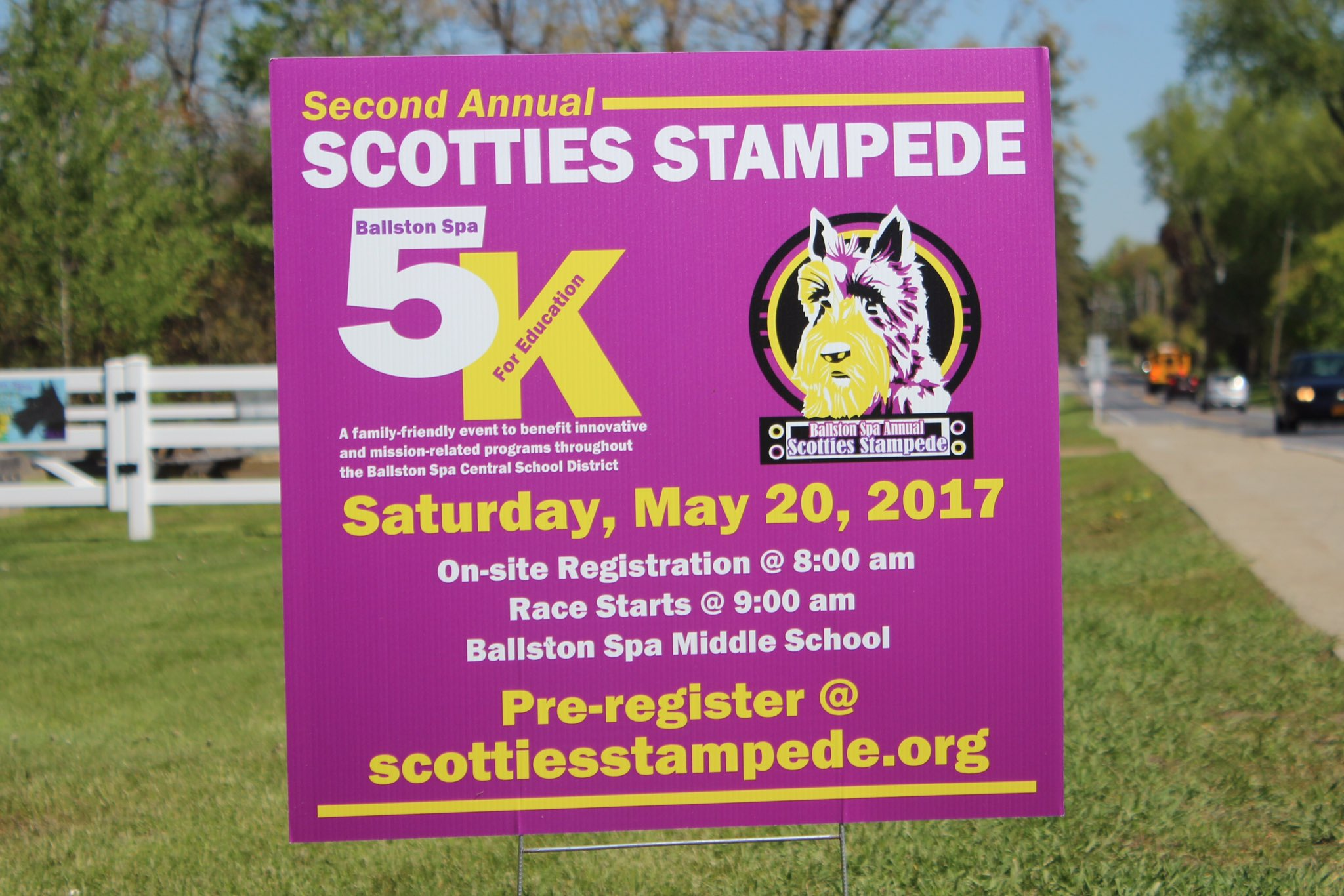 The results of the #Scotties5K are posted at https://t.co/7UjaM4w7z5 - Great race everyone! #BSCSD #ScottiesStampede https://t.co/t9wbb03Skh