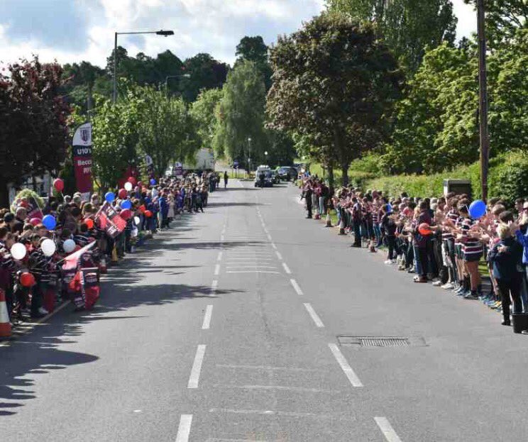 Christy Jordan guard of honour, huge thanks to everyone for your support, truly humbling &amp; proud #RugbyFamily  http://www. pitchero.com/clubs/becceham ianrfc/photos/christy-jordan-guard-of-honour-750326.html#.WSAnuRlFLk5.twitter &nbsp; … <br>http://pic.twitter.com/brCXJRFHTF