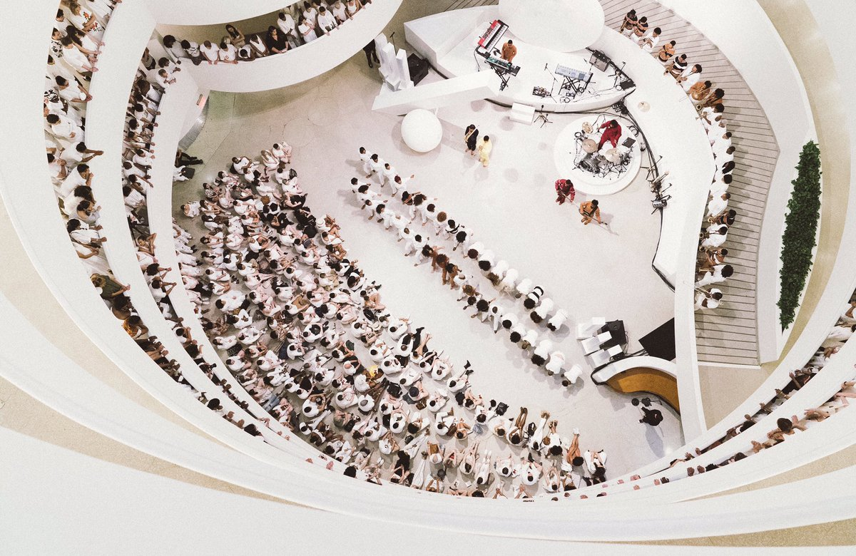 My performance piece 'an Ode to' (2017) Presented by @rbma at the @Guggenheim Museum
