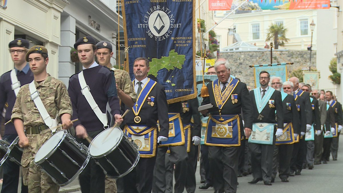 Freemasons parade through Guernsey for first time in 100 years  https://t.co/WgN9h9SXuT https://t.co/B3umyYYPU1