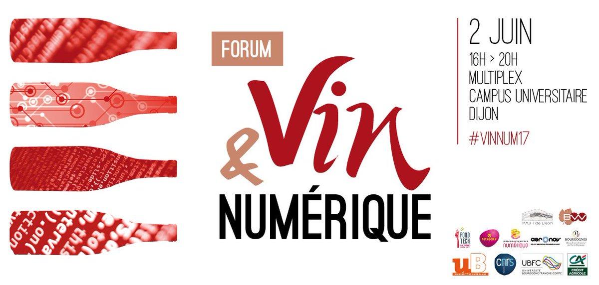 2 juin 16 h #multiplex #Dijon forum #vinnum17 #recherche #startups #innovation @MSHDijon @vitavinum @WineCluster_ @lawinetech @ViniTIC1<br>http://pic.twitter.com/0HBYe5EbMU
