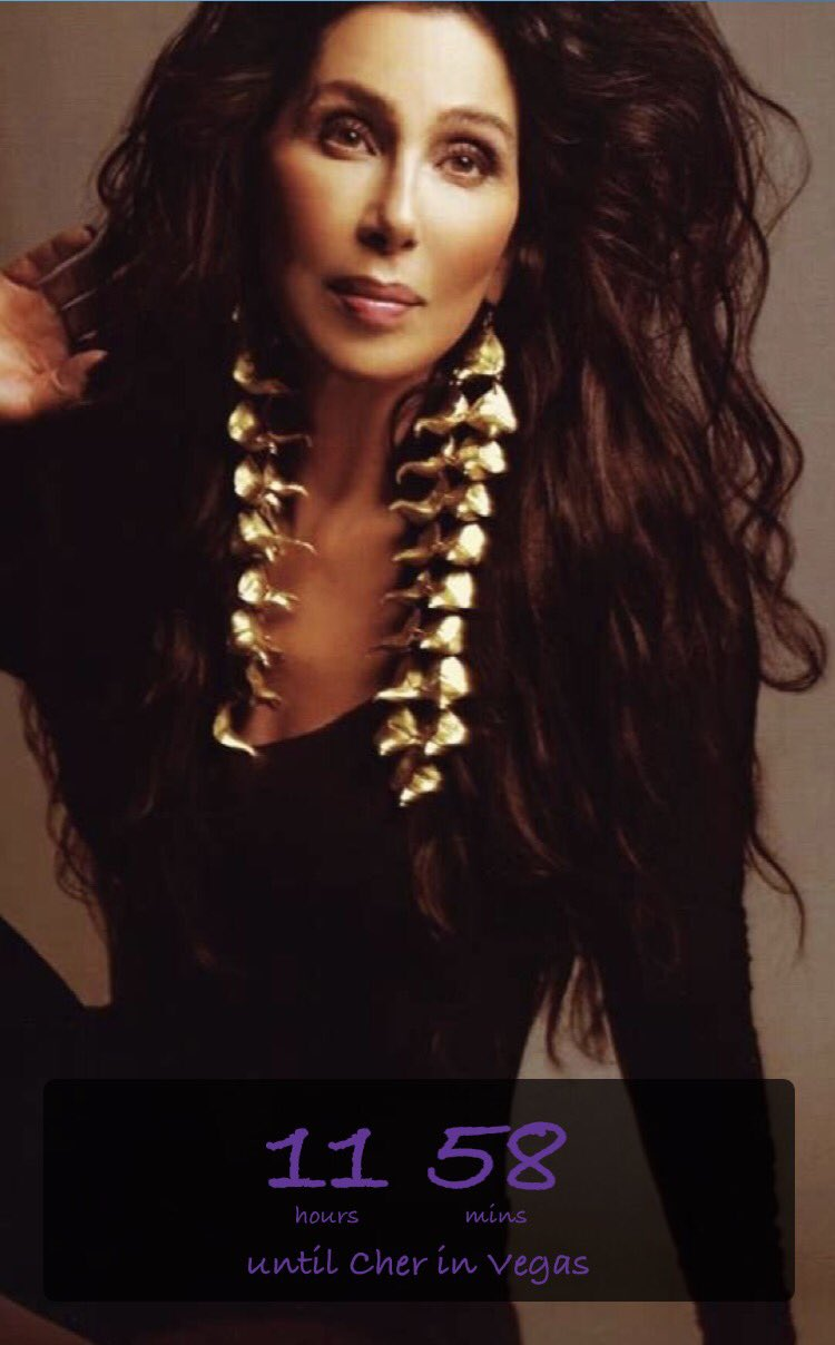 Happy Birthday Cher, can wait to see you tonight.