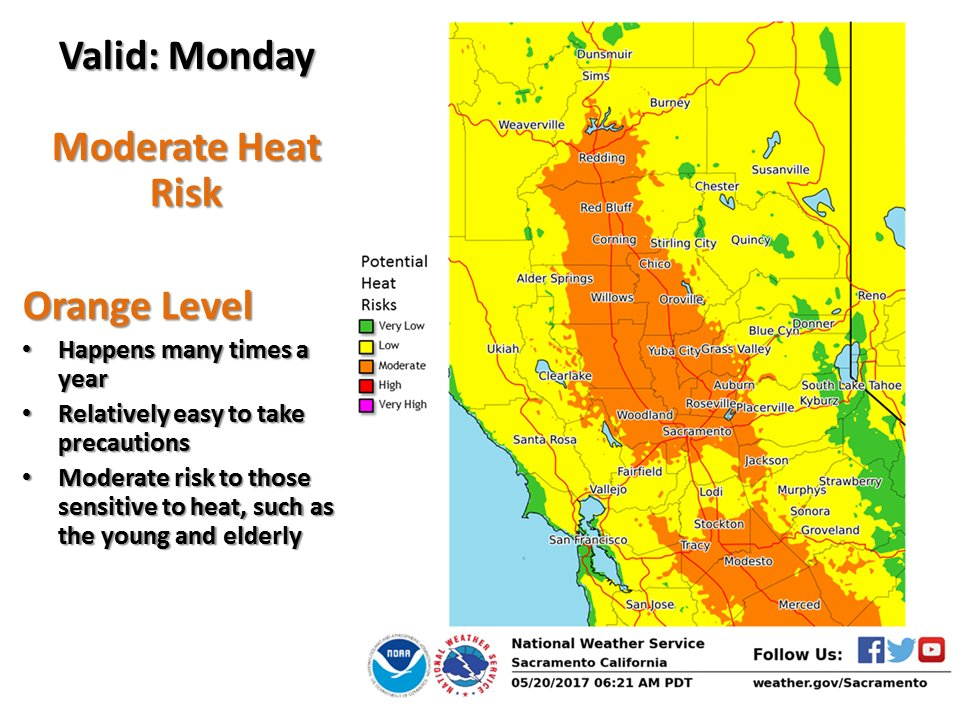 Nws Sacramento On Twitter Mon Fcst To Be Hottest Day So Far This
