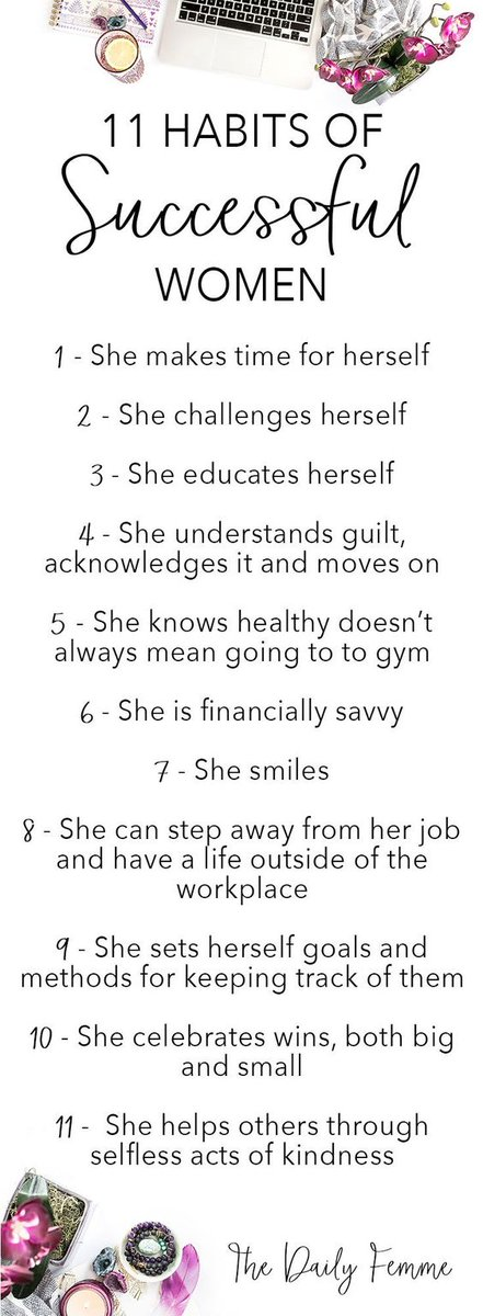 The 11 Habits of Successful Women...  #womened #Bameed #ukpastoralchat #ukedchat #sltchat https://t.co/PbAYQ5Jyqb
