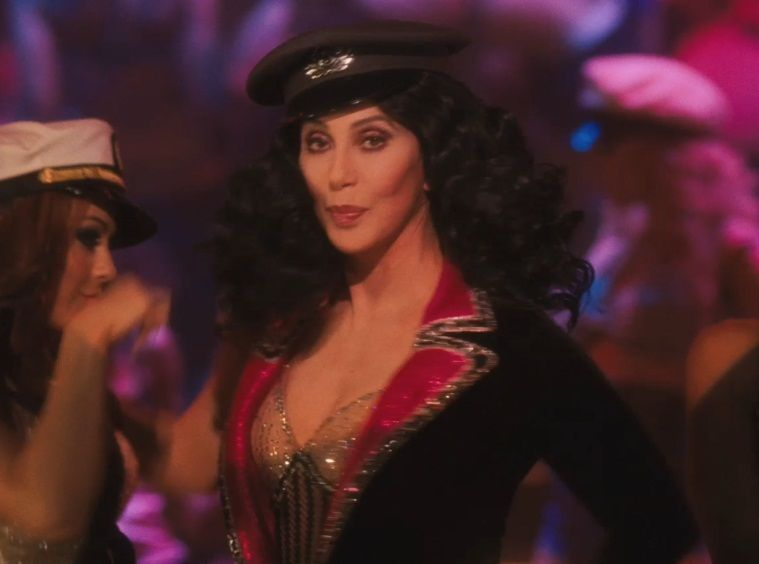 """Happy 71st Birthday to Cher! Seen here in the drama-musical, \""""Burlesque\""""."""