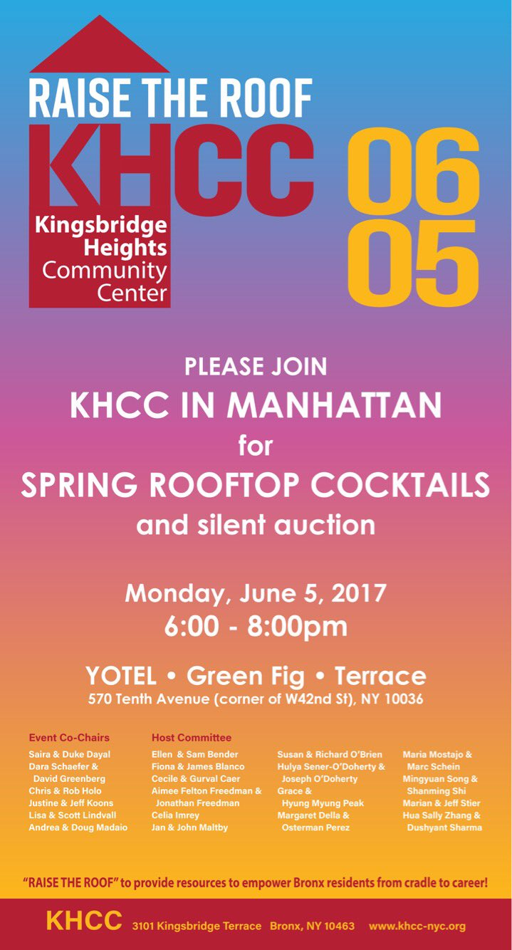 Raise the Roof for KHCC!