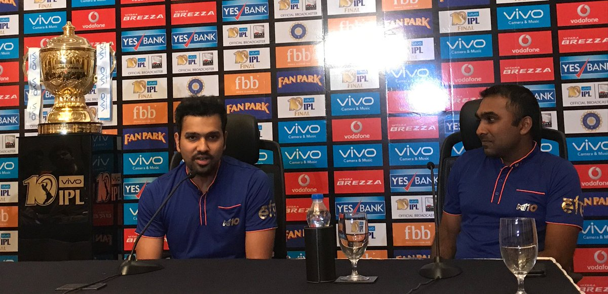 """test Twitter Media - """"Mahela has done well for Sri Lanka. His experience helped us to be a successful unit."""" - Rohit #IPLfinal #BELI3VE #CricketMeriJaan https://t.co/WfnrTLdX00"""