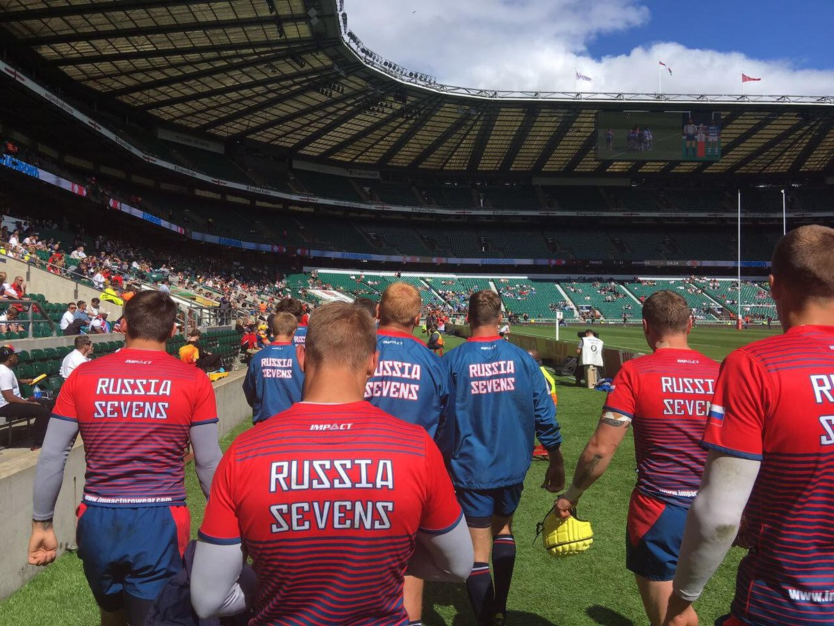 At the #London7s with out team @russiarugby looking great in their #rugby7s specific kits and off-filed gear! #russiarugby #impactprowear<br>http://pic.twitter.com/BIzs2utzPY
