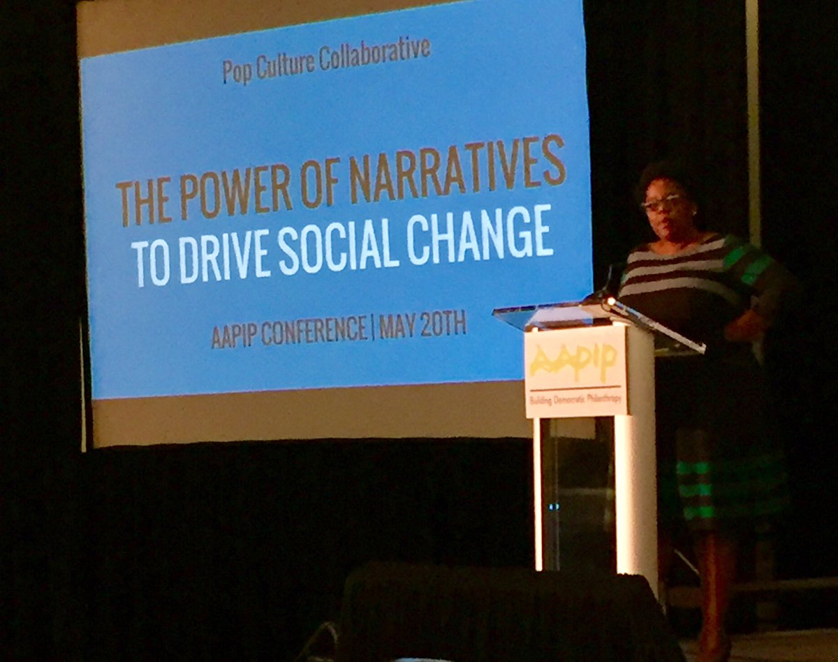 An effective narrative is powerful enough to reshape how people think, feel, behave in the world. @bridgitaevans @PopCollab #AAPIP2017 <br>http://pic.twitter.com/Agllv2PtfU