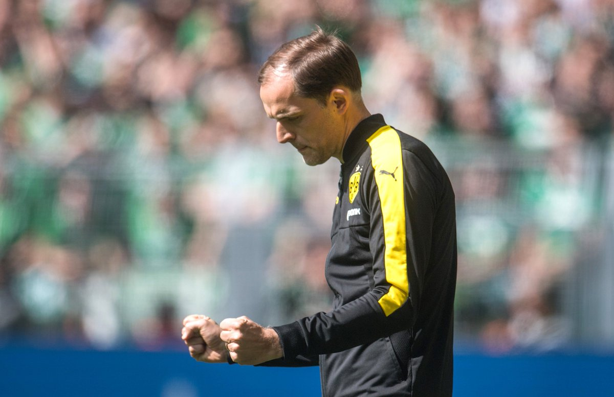#Tuchel, when asked if he fancies another year at @BVB:  &quot;Yes, of course!&quot; #bvbsvw<br>http://pic.twitter.com/i13UpyE6ZT