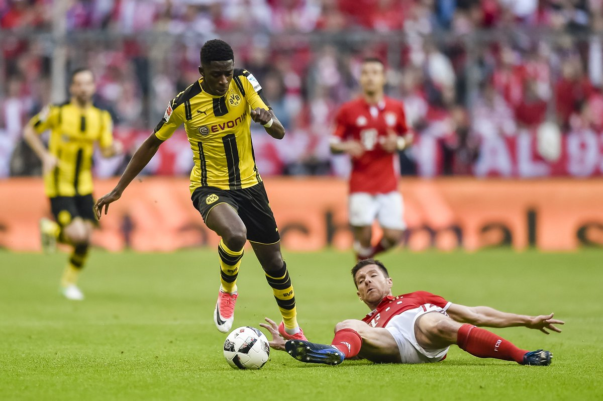 Ousmane Dembélé (103) was the only player to complete 100+ take-ons in the 2016/17 #Bundesliga season.  Speed demon.  <br>http://pic.twitter.com/2R42XMWyO9
