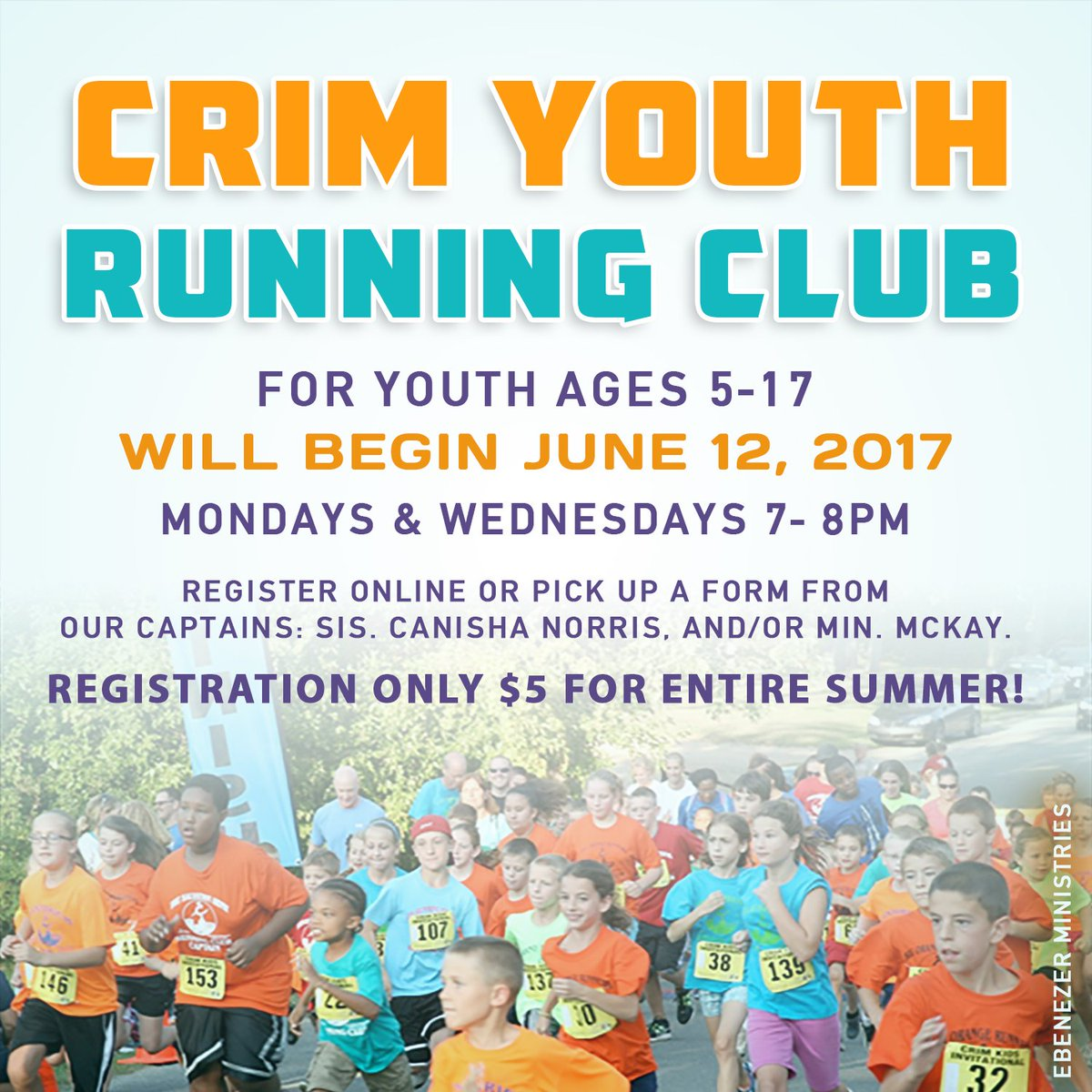 Summer FUN &amp; fitness on campus!! Register Wednesdays and Sunday or online #crimkids #crim #fit #church<br>http://pic.twitter.com/Ivvwg97PgN