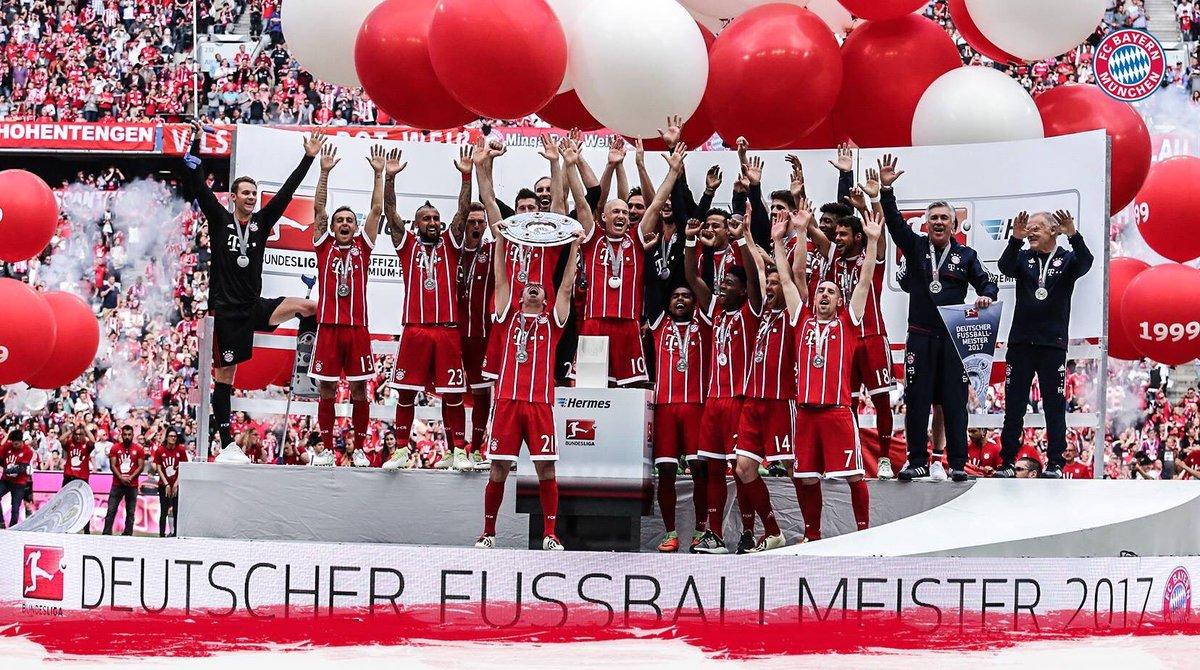 Da ist das Ding 😀#meistershot #fcbayern #fcbscf #esmuellert #DankePhil...