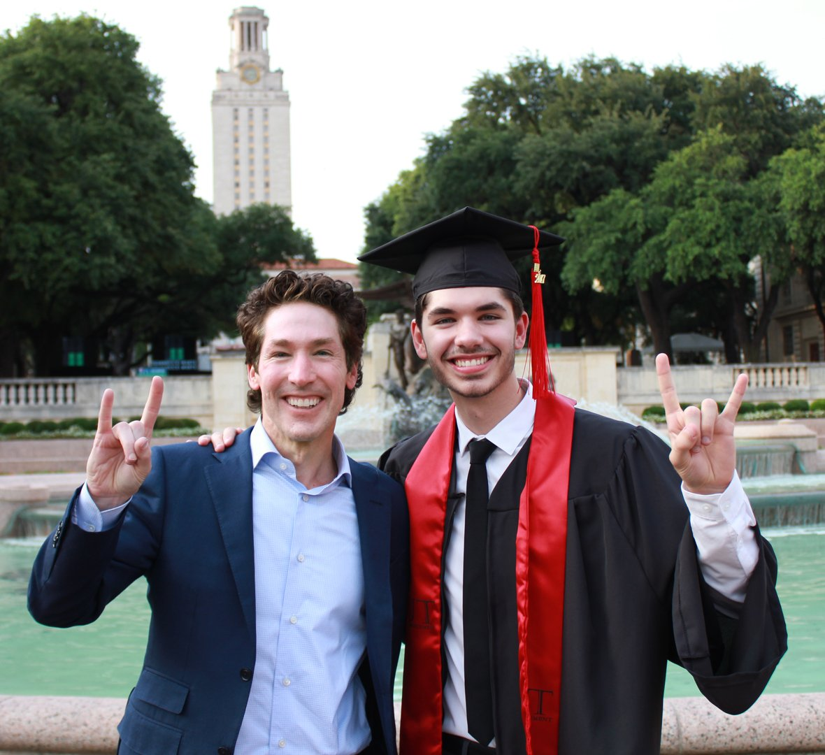 We had a great day celebrating @JonathanOsteen's graduation from the University of Texas at Austin! So proud of him!