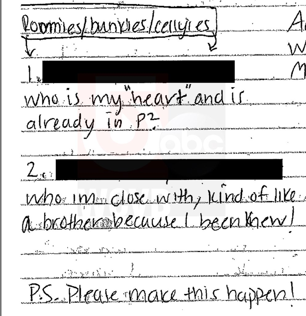 """Aaron #Hernandez refers to inmate who is his """"heart,"""" asks for cell mates in newly released letters   http:// dhurl.co/2rCQmGw  &nbsp;  <br>http://pic.twitter.com/3nDf7Qh1RV"""