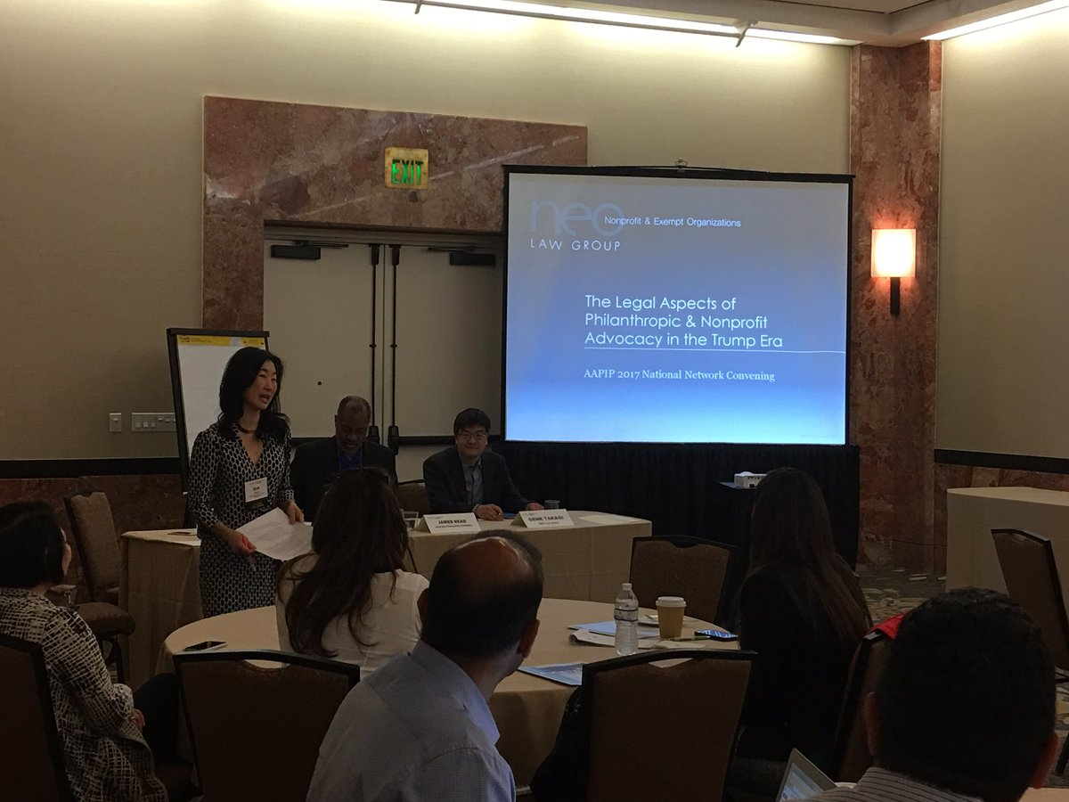 Looking forward to hearing about philanthropic and nonprofit advocacy in the DJT era. #AAPIP2017 <br>http://pic.twitter.com/cffAkIm97d
