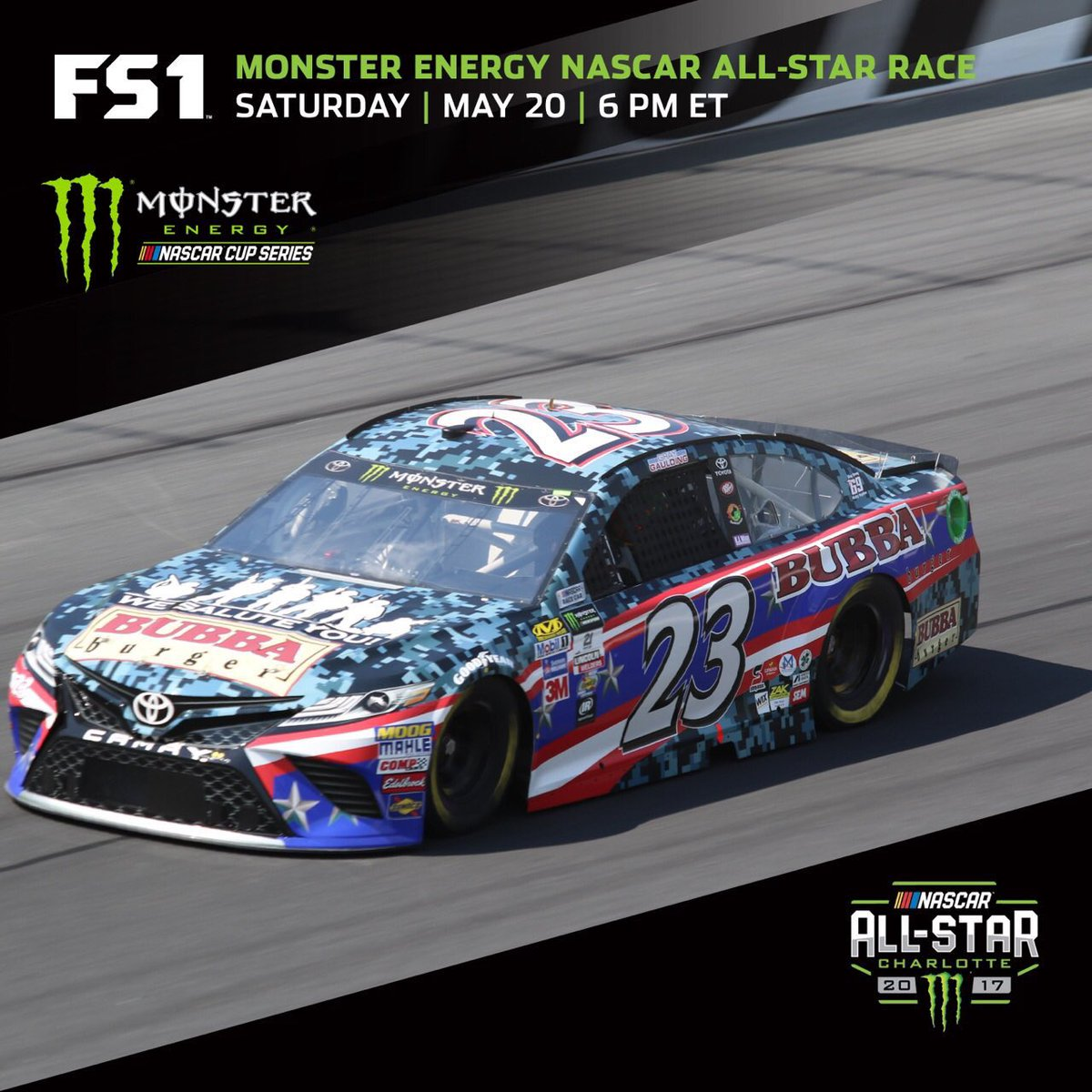@Bubbaburger @graygaulding Absolutely awesome doesn&#39;t get any better than this  sponsor #AllStarRace #NASCARDay #NASCARonFS1 Guys Rock <br>http://pic.twitter.com/x24u0BtJDc