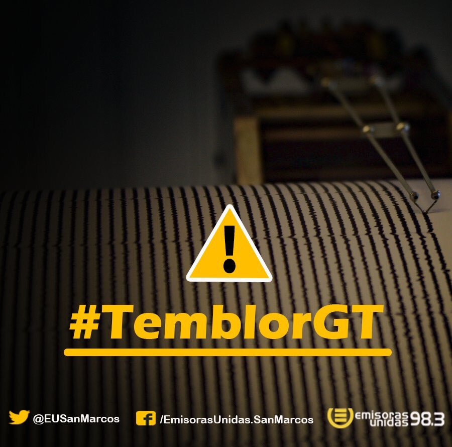 Fuerte #TemblorGT ha sido sensible hace pocos instantes en San Marcos.  ¿Fue sensible donde usted se encuentra?