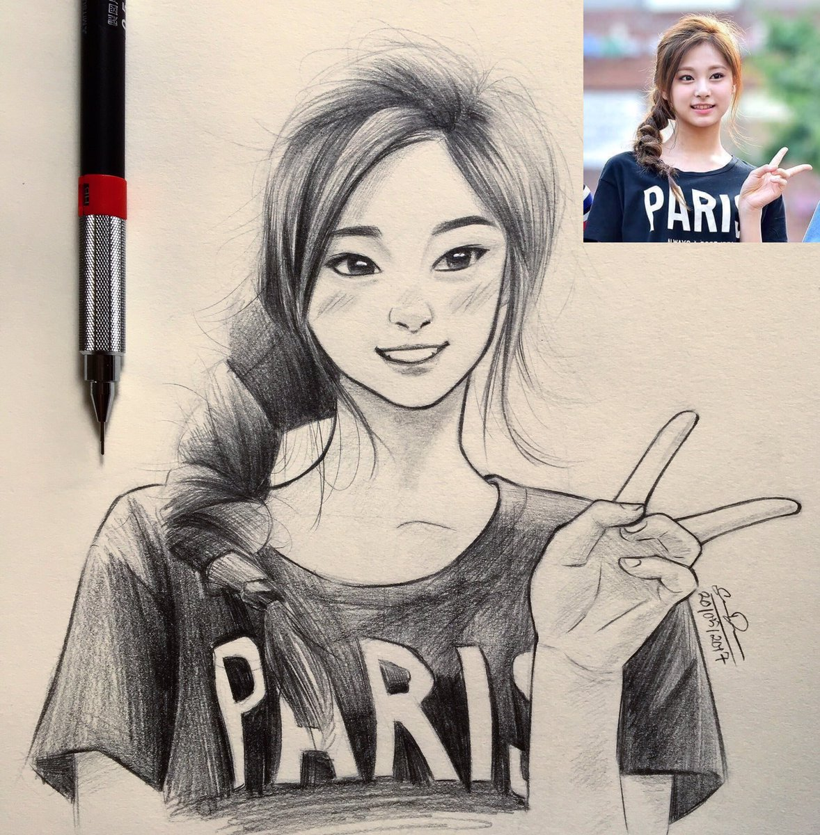 Sketch: Tzuyu  This Twitter account is dedicated to Tzuyu and the drawings i make of her  #twice #TZUYU #sketch <br>http://pic.twitter.com/6PgIWdpD0i