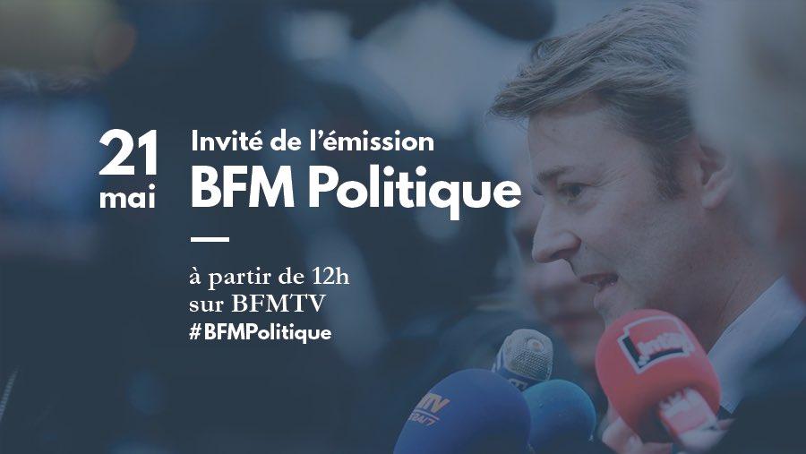 Retrouvez-moi demain à partir de 12h sur @BFMTV. #bfmpolitique pic.twitter.com/NSg9xCFyM5