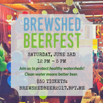 In 2 Weeks 20 breweries will be pouring over 45 beers & ciders @ the Beer Fest! Cheers to #cleanwater & #betterbeer! https://t.co/ejcvxpt3Bq