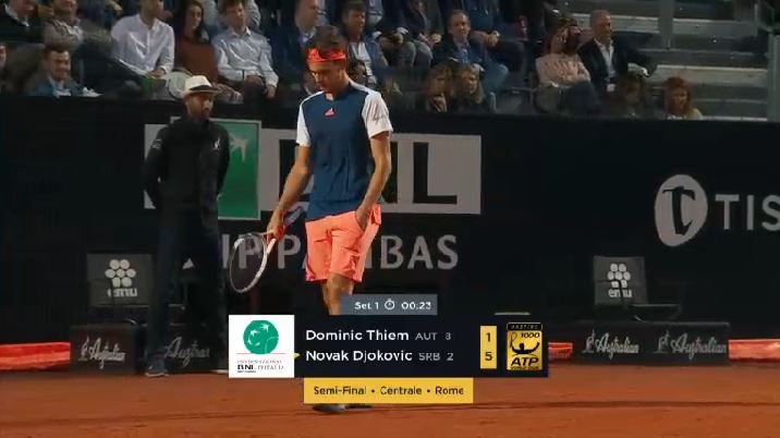 #Thiem is finally on the board after 22mins, 5-1.  #ibi17<br>http://pic.twitter.com/syFr2xj3zT