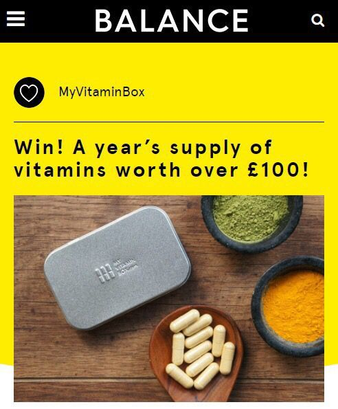 We&#39;ve teamed up with @BalanceLDN to give 3 lucky readers a years supply of our vitamins! Worth over £100. http:// buff.ly/2pVkMXs  &nbsp;   #su… <br>http://pic.twitter.com/Eg3WtGbl5V