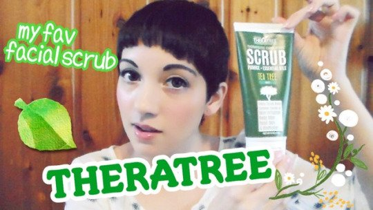My favorite tingly facial scrub by Theratree!