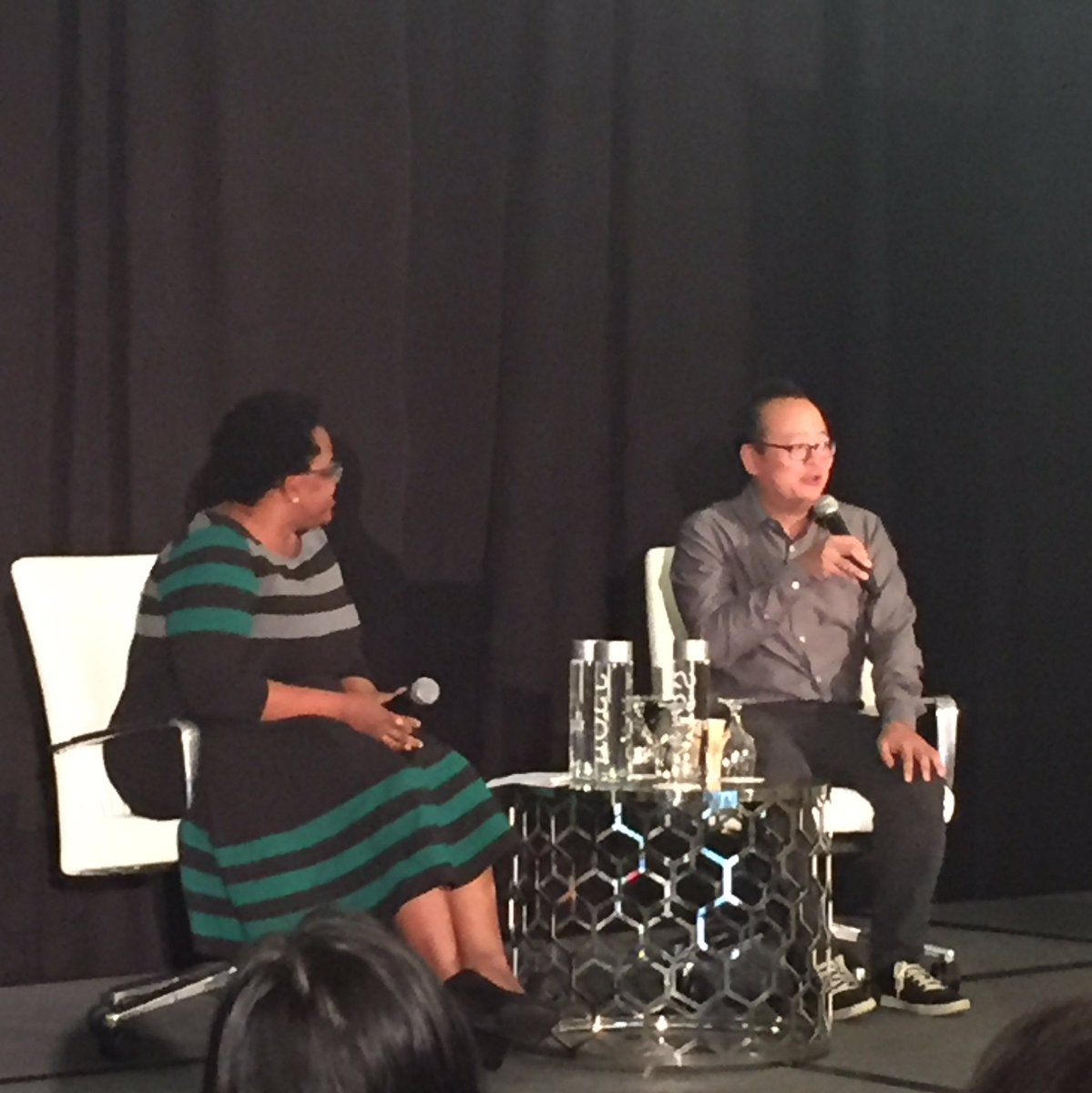 A conversation with Jeff Yang, Columnist at @CNN &amp; Co-host of @TheyCallUsBruce at #aapip2017 @originalspin<br>http://pic.twitter.com/8eB1YTfWWg