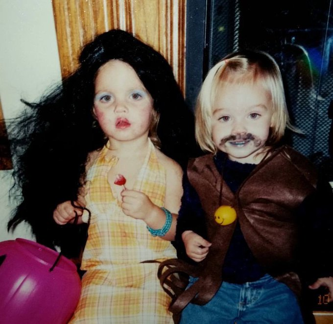 Happy birthday ilysm here\s 3 year old me dressed as you