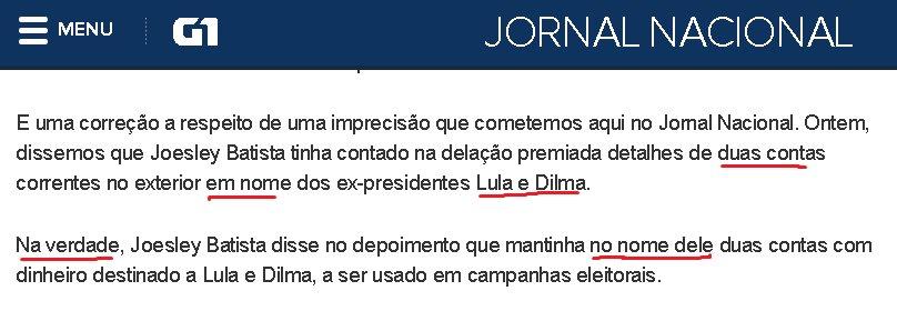 a ~imprecisão~ do jornal nacional