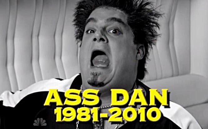R.I.P. Ass Dan. And congrats on a great run, @bibbymoynihan !!! https://t.co/CmZAb5mshl