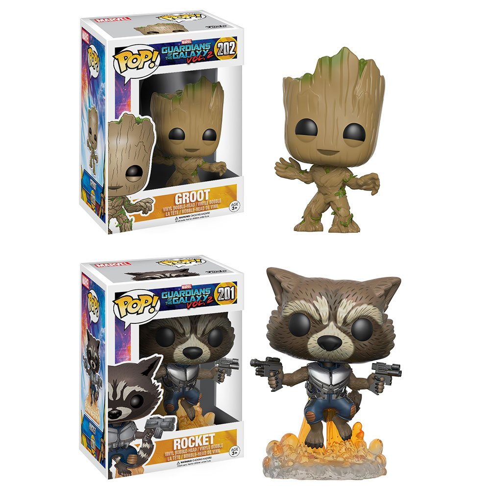 RT & follow @OriginalFunko for the chance to win a Rocket and Groot Pop! prize pack!