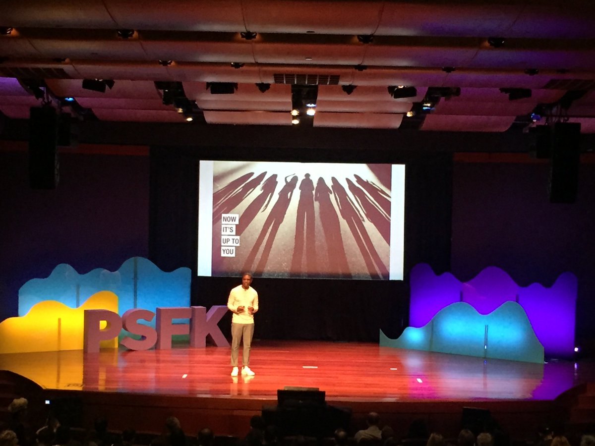 Technology to bring humans together was the theme of this year&#39;s @PSFK innovation with purpose conference #PSFK2017 @mrbobbyjones<br>http://pic.twitter.com/pKlOr1Izn5