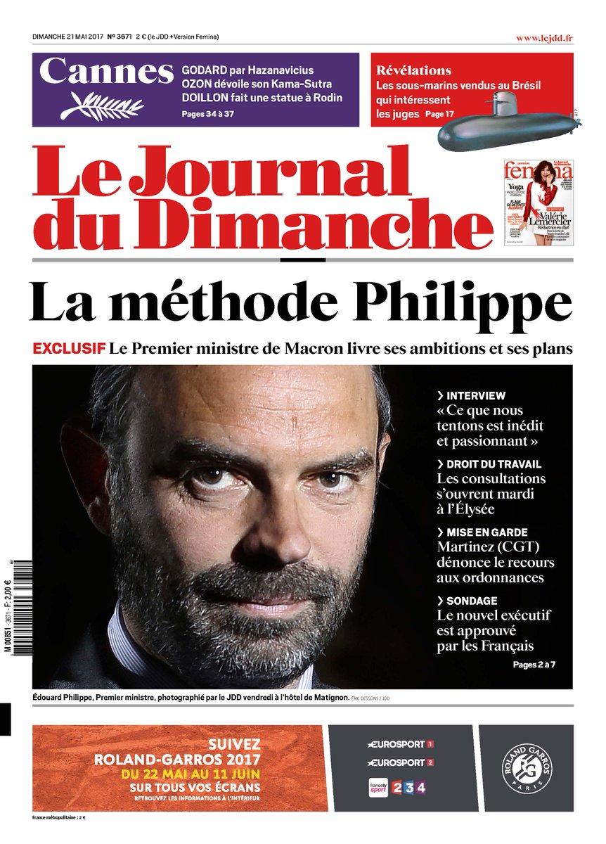 La une du JDD - La méthode Philippe avec une interview du Premier ministre @EPhilippe_LH  - Popularité  - Sondages sur les législatives