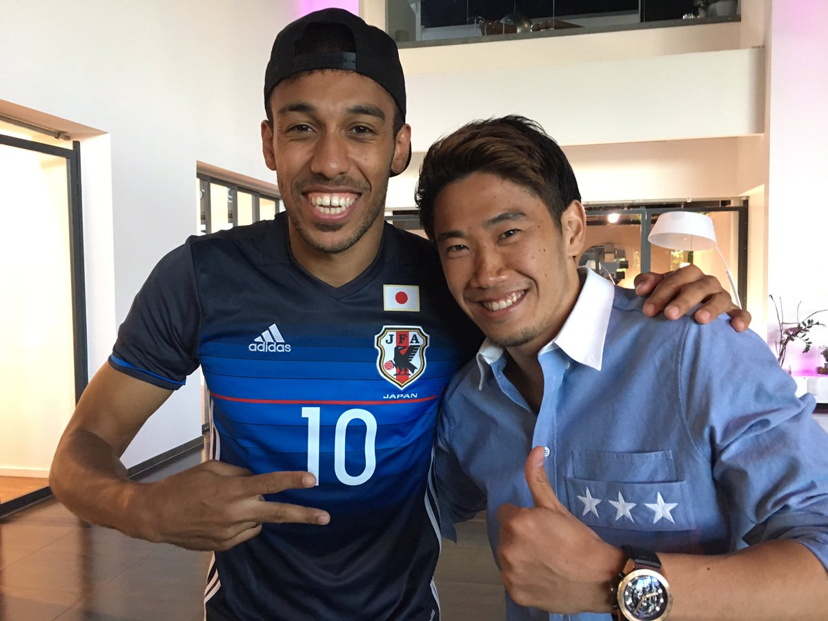 Congratulations on Top scorer, Auba #sk23 #dortmund #aubameyang #topscorer #bundesliga  #welcometojapannationalteam #www #笑<br>http://pic.twitter.com/sC2bcQGovR
