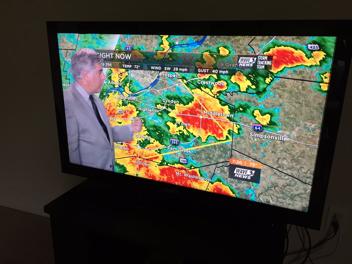 .@AndyWAVE3 is on #WAVE3News with wall-to-wall #Tornado Warning covera...