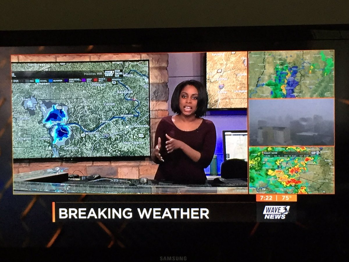 .@TawanaAndrew handling reports and radar with #tornado-warned storm i...