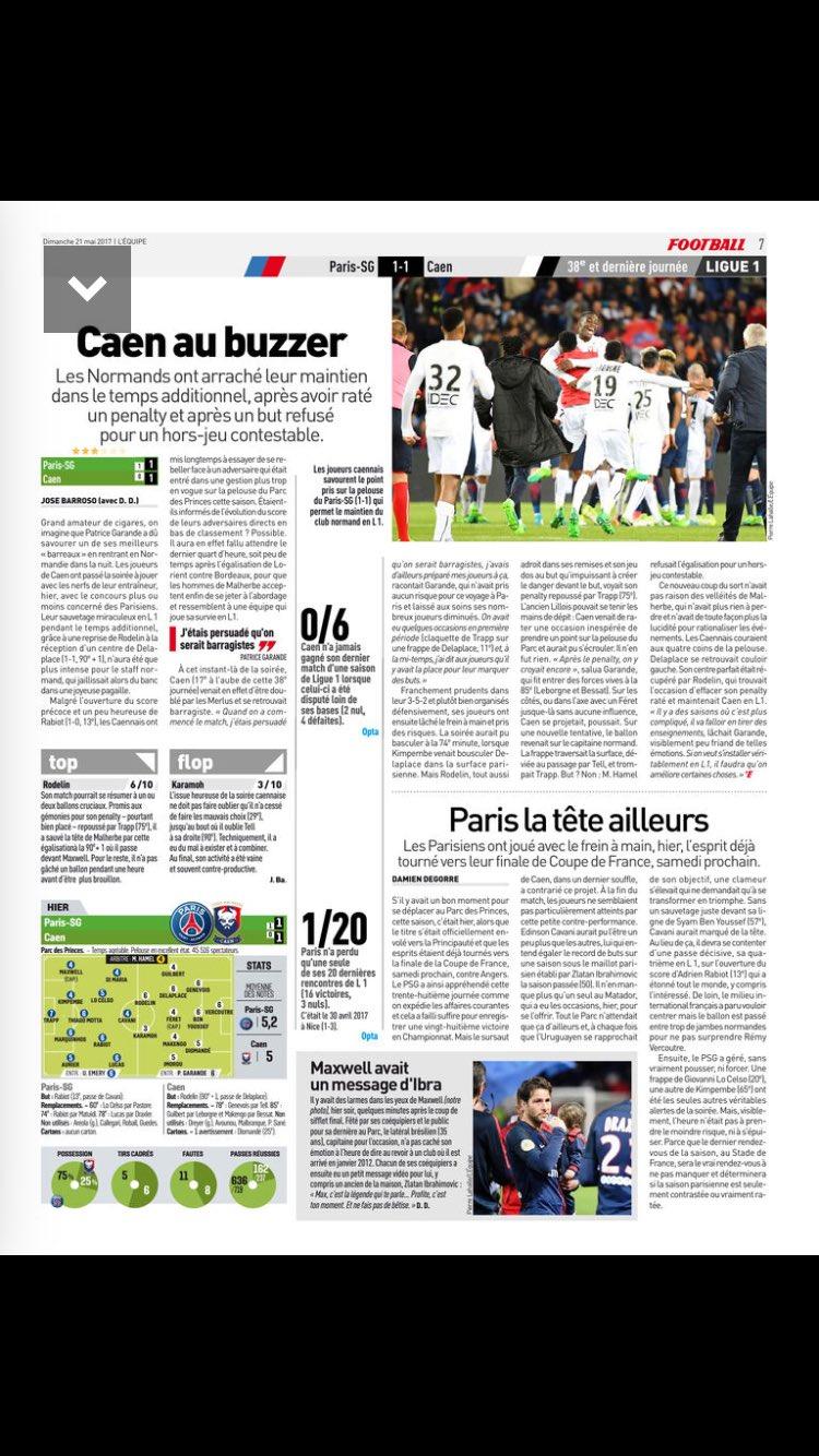 [38e journée de L1] Paris SG 1-1 SM Caen - Page 4 DATveLhXcAA65Cr