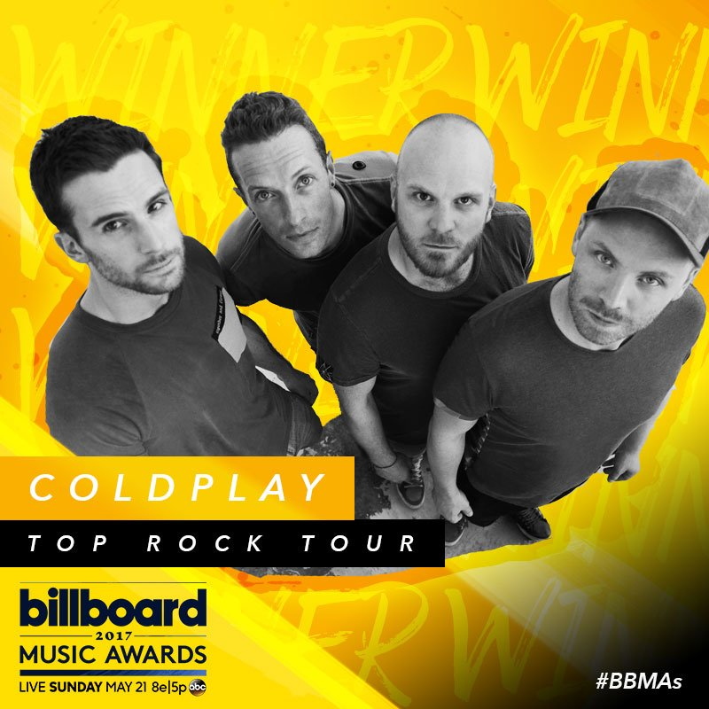 Give it up for your Top Rock Tour winners, @coldplay! ✨ #BBMAs