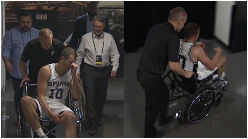 【影片】屋漏偏逢連夜雨!David Lee腿部受傷 坐輪椅回休息室