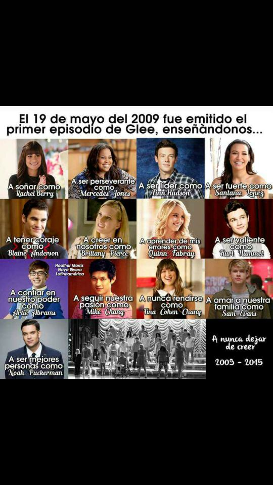 #8YearsOfGlee Latest News Trends Updates Images - SoyItielM