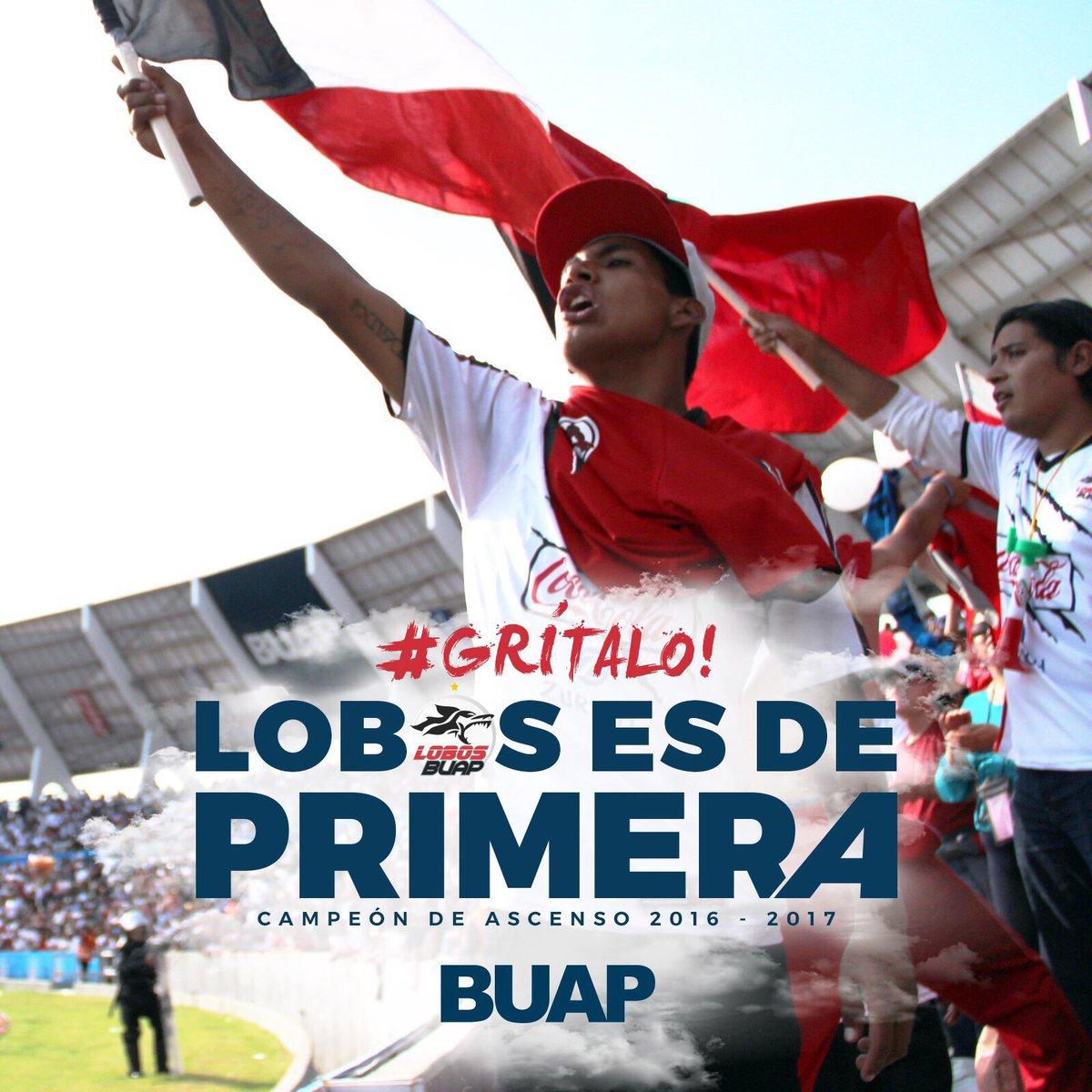 #Grítalo !@LobosBuapMX es un equipo de primera! ¡Gracias por jugar por nosotros! #SomosUnSoloEquipo https://t.co/FFQyth838I