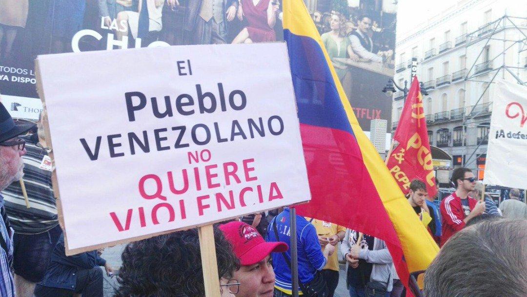 Resultado de imagen para chavistas madrid venezuela