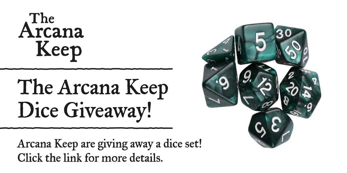 Huzzah! We have recently surpassed 100 followers and to say a big thank you we are giving away a #RPG #Dice Set  https:// goo.gl/dToUJ1  &nbsp;   #dnd<br>http://pic.twitter.com/9Cce2fP0WY