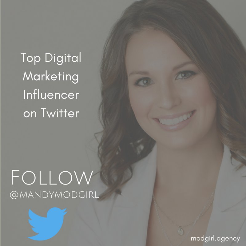 ICYMI: Our Founder @MandyModGirl was listed as a Top 100 #DigitalMarketing Influencer on #Twitter. Follow her for industry news & tips!