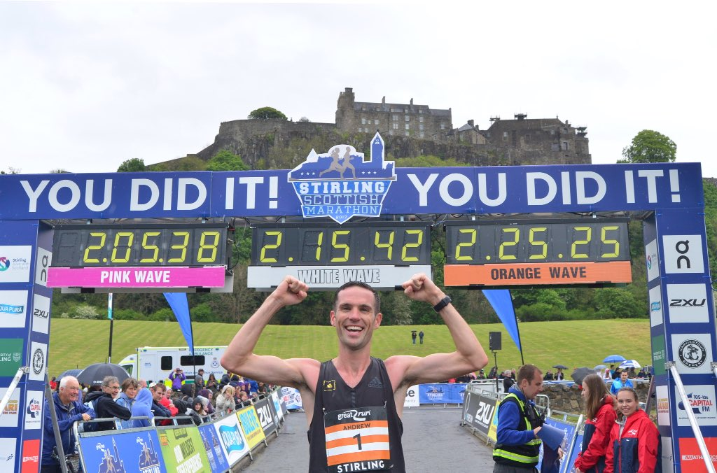 """You would be hard-pressed to find a more beautiful marathon route."" Andrew Lemoncello. #StirlingMarathon winner. https://t.co/D8cuPWljOk"
