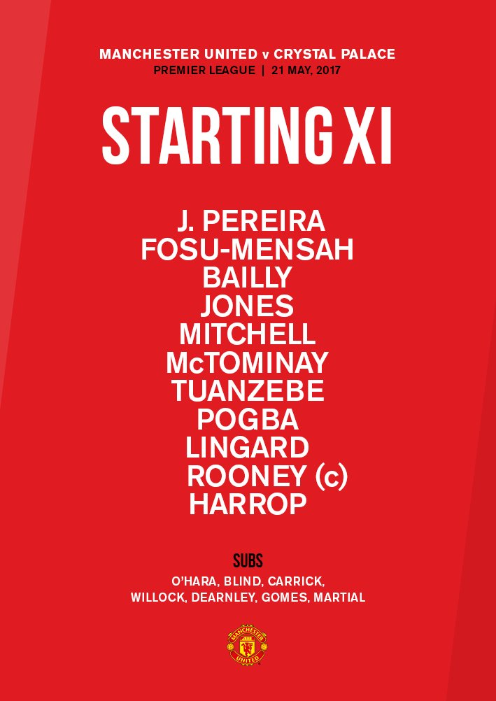 It's here - our final starting XI of the league season! #MUFC #MUNCRY...